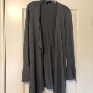 White House Black Market Grey Bell sleeve sweater